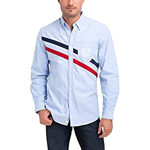 U.S. Polo Assn. Mens Solid Oxford Long Sleeve Woven Button Down Shirt