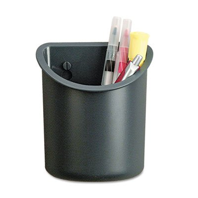 Recycled Plastic Cubicle Pencil Cup, 4 1/4 x 2 1/2 x 5, Charcoal, Sold as 1 Each by Generic