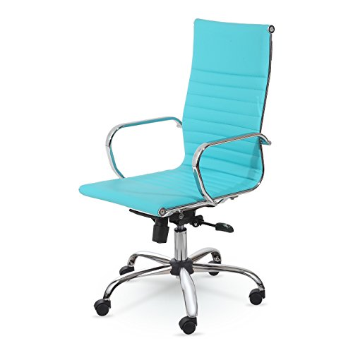 BEST SELLER HIGH-BACK LEATHER EXECUTIVE SWIVEL OFFICE DES...