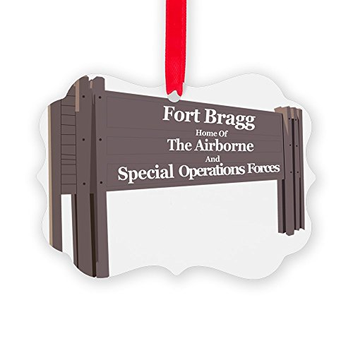 CafePress Fort Bragg Christmas Ornament, Decorative Tree Ornament - Dui Patch Military
