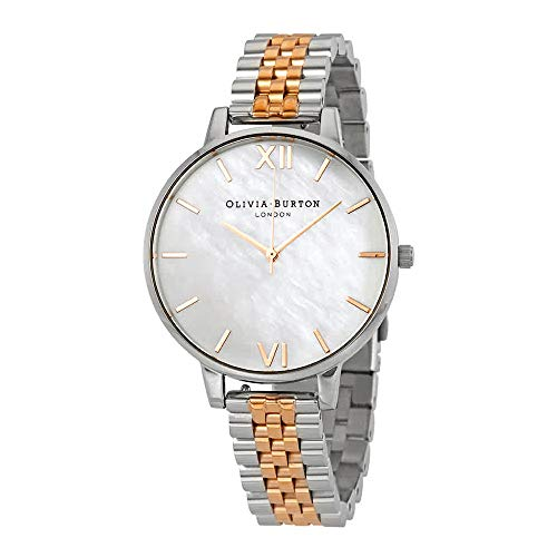 - Olivia Burton Big Dial Mother of Pearl Dal Two-Tone Ladies Watch OB16MOP06