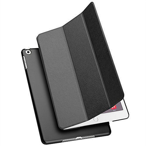 Price comparison product image New iPad 9.7 inch 2017 Case, GMYLE Ultra Slim Smart Natural Silk Magnetic Stand Case Cover with Auto Wake / Sleep function for Apple iPad 9.7 2017 / iPad Air (Not fit for iPad Air 2), Black