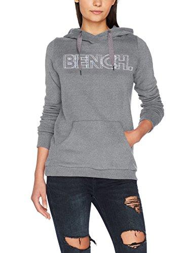 Marl Grigio Bench Donna Corp Cappuccio Ma1054 Grey winter Hoody Print w781g