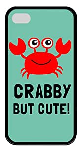 ICORER Durable iPhone 4S Case Crabby But Cute Case for Apple iPhone 4S/4 TPU Black