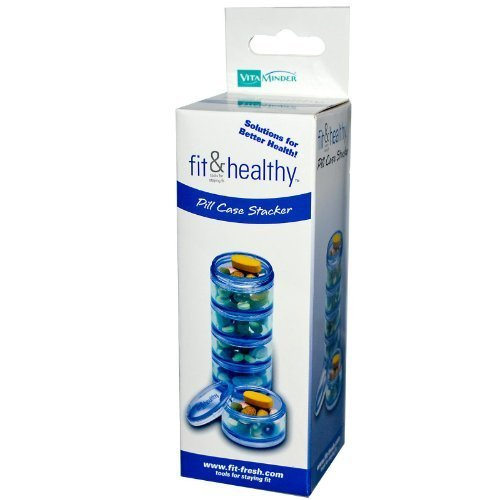 Fit and Fresh Pill Case Stacker, 1 Ea by Vitaminder