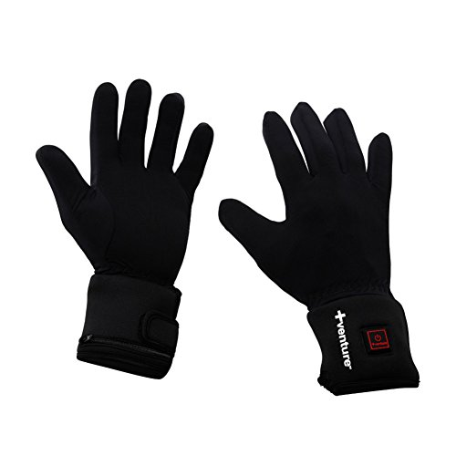 Venture Heat City Collection Heated Glove Liners (Black, - Glove Liners Battery Heated