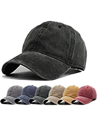fb146c669d4 Unisex Vintage Washed Distressed Baseball-Cap Twill Adjustable Dad-Hat