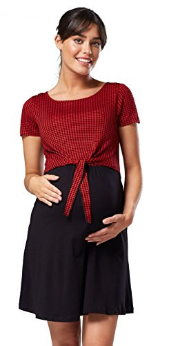 Happy Misura Accesso Mama Fitted Access amp; Di Vestito Il A Top Black Maternità Infermieristico Women's Dress 248p Felice Nursing With 248p Con Red Maternity Loose Mamma Nero Checkered Top Rosso E Allentate Delle Donne Scacchi rwrY1dTqx