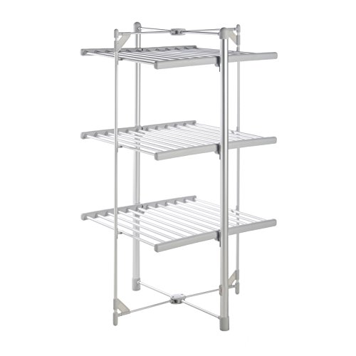vonhaus heated clothes and towel drying rack foldable 3 tier indoor electric ebay. Black Bedroom Furniture Sets. Home Design Ideas