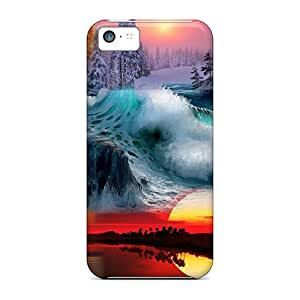 Iphone 5c Cases Covers - Slim Fit Protector Shock Absorbent Cases (nature Collage #1)