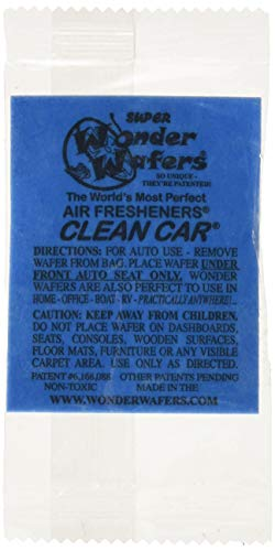 (Wonder Wafers 25 CT Individually Wrapped Clean Car Air Fresheners)