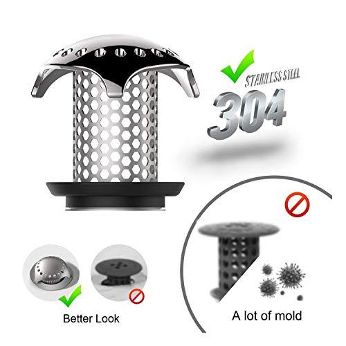 Uxoz Drain Hair Catcher,Stainless Steel Bathtub & Sink Drain Protector, Anti-Rust, Durable Use