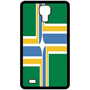 Portland Oregon OR City State Flag Black Samsung Galaxy S4 i9500 Cell Phone Case - Cover