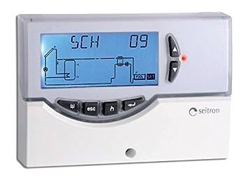 CENTRALITA electrónica digital para instalaciones solares térmicos completa de sondas, gestisce hasta a 20 tipos