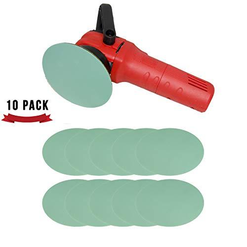 "Abrasive Blending Disc 6"" 10-Pack | Sanding Pad for Automotive Paint Clear | DA Polisher Hook and Loop Velcro Backing (2000 Grit)"