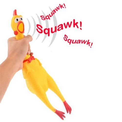 Dazzling Toys Squeezing Squawkin Chicken Toy