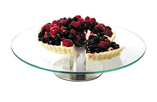 1 Tier Revolving Rotating Glass 30cm Cake Stand For Cake Art Decorating. Zodiac CRGCS-1