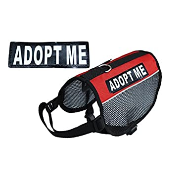 ADPOT ME Service Dog mesh vest Harness Cool Comfort Nylon for dogs Small Medium Large Purchase comes with 2 reflective ADOPT ME pathces. PLEASE MEASURE your dog before ordering