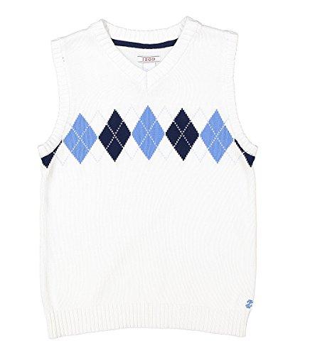White Argyle Sweater Vest - 4
