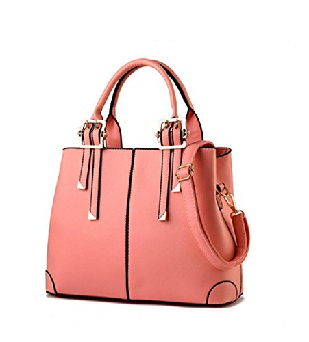 PU Soild Mujeres De Hombro Fashion Pink Bolsa New qckj Cruz Cuerpo bolso wxqCnwWzR