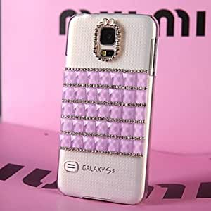 HJZ LUXURY Diamonds Crystal Back Cover Case for SAMSUNG Galaxy S5 I9600(Assorted Colors) , Purple