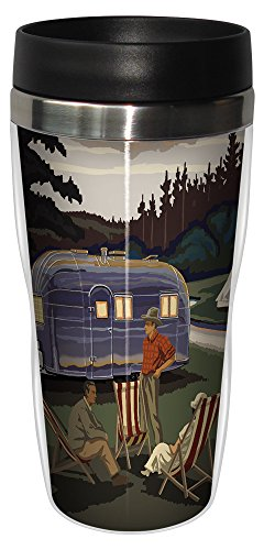Airstream Camping Hot Or Cold Beverage Sip 'N Go Travel Mug made our list of camping gifts couples will love and are the best gifts for couples who camp in tents or RVs including awesome gifts for people who love camping with their friends and families!