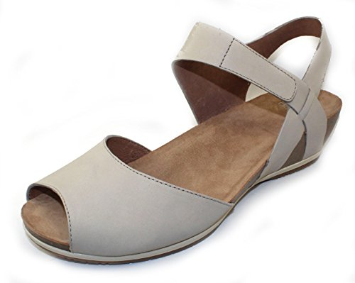 (Dansko Women's Vera Flat Sandal, Oyster Milled Nubuck, 42 M EU (11.5-12 US))