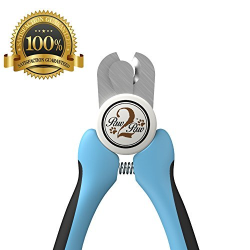 Best Dog Nail Clippers and Trimmer - For Professional Pet Grooming. Nail File Included, Razor Sharp Blades, Safety Guard to Prevent Overcutting Nails, Non Slip Ergonomic Handles, Safe, At Home Dog Grooming - By Paw2Paw
