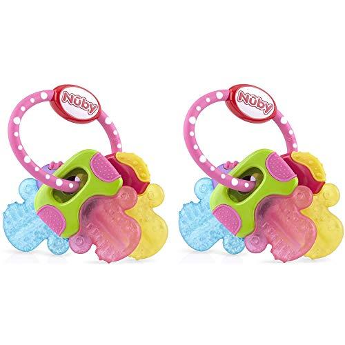 Nuby Ice Gel Teether Keys (2 Pack Pink)
