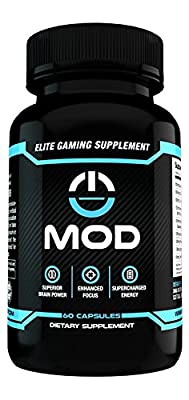 MOD - Elite Gaming Supplement - Supports Focus, Energy, and Memory - Teacrine, Alpha GPC, & More.