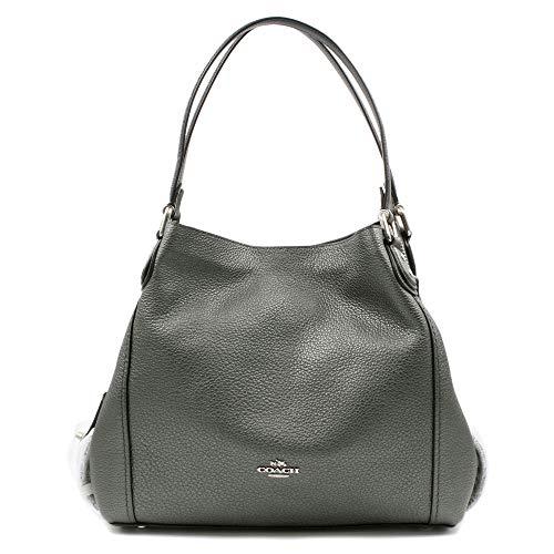 COACH Women's Metallic Leather Edie 31 Sv/Metallic Graphite One ()