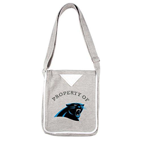 NFL Carolina Panthers Women's Hoodie Crossbody Handbags, 9.5 x 2.25 x 11.5-Inch, Gray