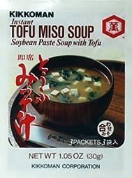 Kikkoman Instant Tofu Miso Soup (Soybean Paste Soup with Tofu) -(9 Pockets in 3 Packs) (3.15 Oz)