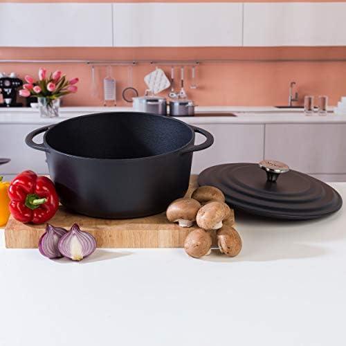 Villeroy & Boch Cocotte Vivo par CW0463, 4,2litres, 24cm, noir, Acier inoxydable
