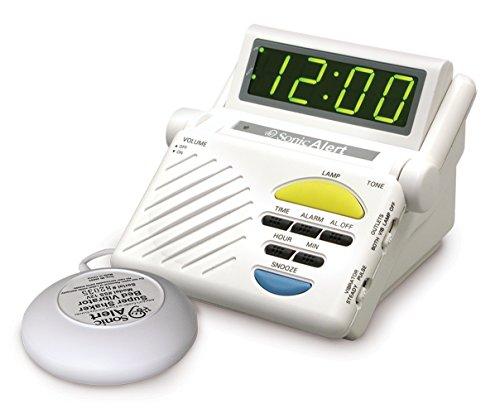 Sonic Alert SB1000SS Sonic Boom Alarm Clock (Shaking Alarm)