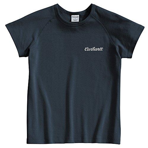 (Carhartt Women's WK006 Women's Cap Sleeve Logo Tee - X-Small Regular - Navy)