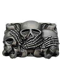Rock Punk Skull Belt Buckle