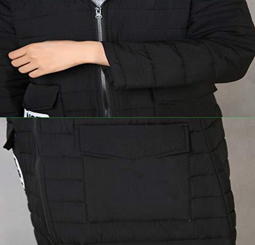 Mujeres Para Adecuado Algodón Capa Mantener Delgada El Invierno Xxl Calor Con De Tamaño Larga color Jbhurf Capucha Negro Y g6CqEqO