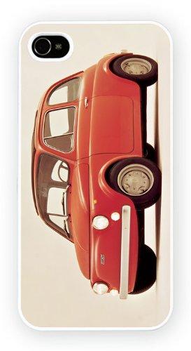 Fiat 500 Red, iPhone 5C, Etui de téléphone mobile - encre brillant impression