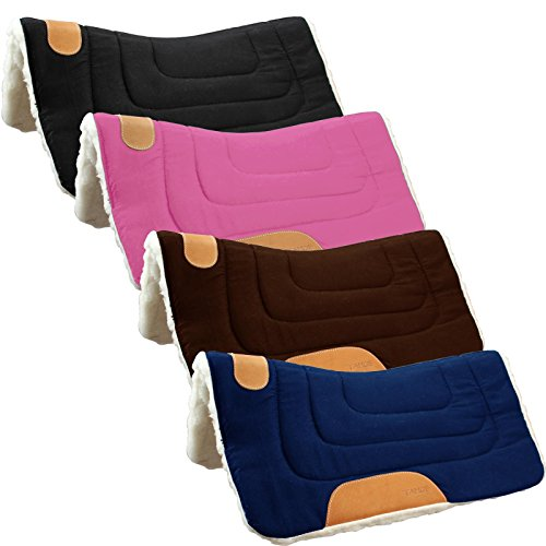 pony-canvas-contour-cut-western-saddle-pad-by-tahoe-pink