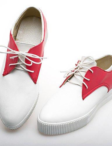 Purple 5 Bas Rouge Violet Chaussures Richelieu Noir Femme us6 Uk4 5 Décontracté Bleu 5 Eu37 Cn37 Arrondi Hug Njx Bout Similicuir Talon 7 nq6RfW