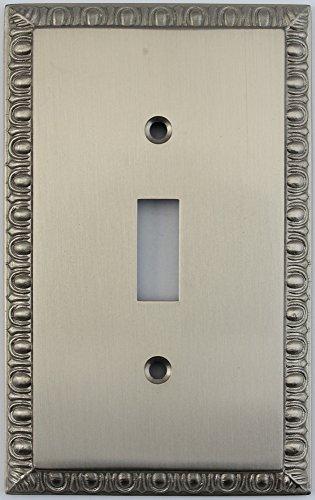 Dart Plate (Egg & Dart Satin Nickel One Gang Toggle Light Switch Plate)