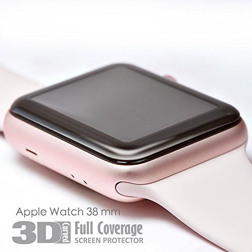 hoda [38mm] Glass Screen Protector for Apple Watch Series 3/2/1 [3D Full Coverage] Black by HODA (Image #5)
