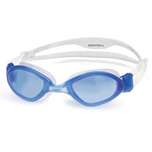 Adult Standard Goggles (Head Tiger LSR+ Adult Standard Swim Goggles - Blue Frame/Blue Lens)