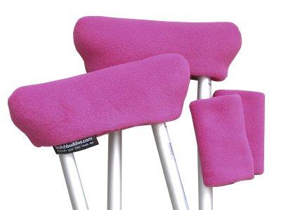 CrutchBuddies Pink Crutch Covers and Crutch Pads Made in USA, Veteran Owned