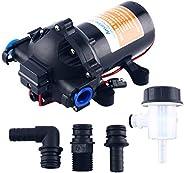 Amarine Made 12V Water Pressure Diaphragm Pump 20 L/min 5.5 Gpm 60 Psi - Caravan/RV/Boat/Marine
