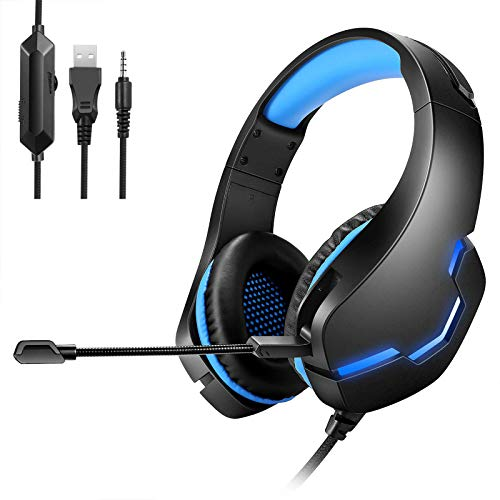 ASYHWZ Stereo Gaming Headset for PS4, 3.5mm Plug and LED Effect, Xbox Headset with Noise Canceling Microphone,Gaming…