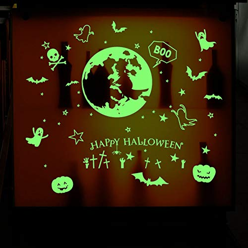 Aqumax Alloween Decor Luminous Removable Tape Sticker,Glow in The Dark Tape,Wall Night Luminous Decals Fluorescent for Halloween Party Home Room Décor -