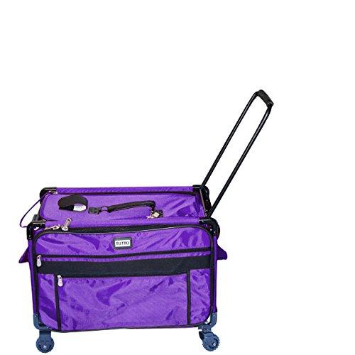 Tutto 2XL Purple Sewing Machine Case on Wheels, ()