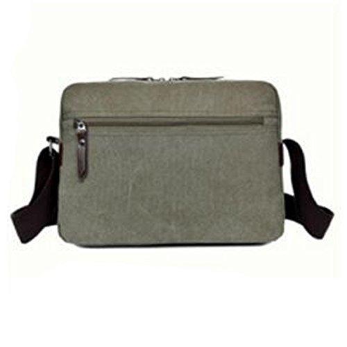 Casual Laptop Bag Satchel Crossbody Bag Boy Multicolor Hombres Shoulder Travel Green Para Canvas Zip Retro Business Messenger pPRBRx